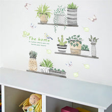 Load image into Gallery viewer, Garden Plant Bonsai Flower Butterfly Wall Sticker