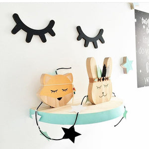 Wooden Eyelashes Wall Stickers