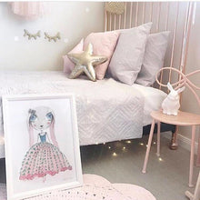 Load image into Gallery viewer, Wooden Eyelashes Wall Stickers