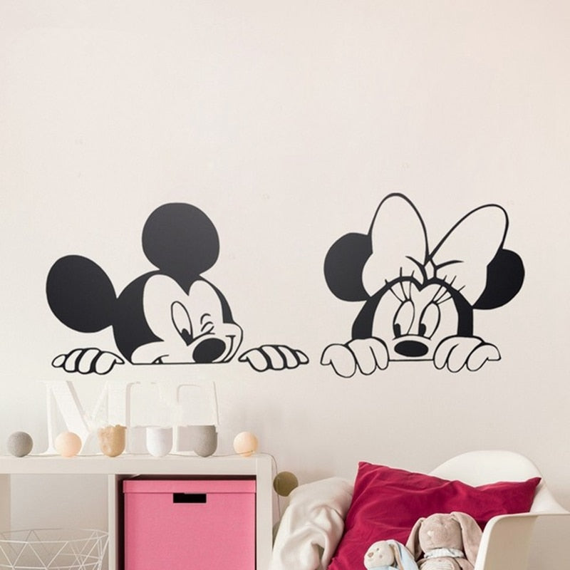 Mickey and Minnie Mouse Wall Stickers