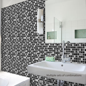 Black marble mozaïek tile sticker