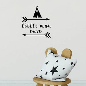 Little Man Cave Wall Sticker