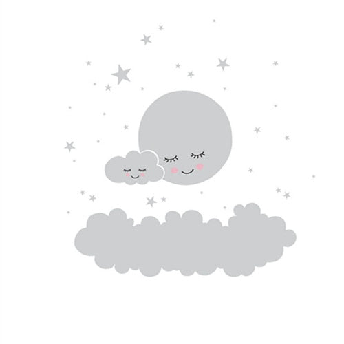 Stars and clouds Wall Sticker