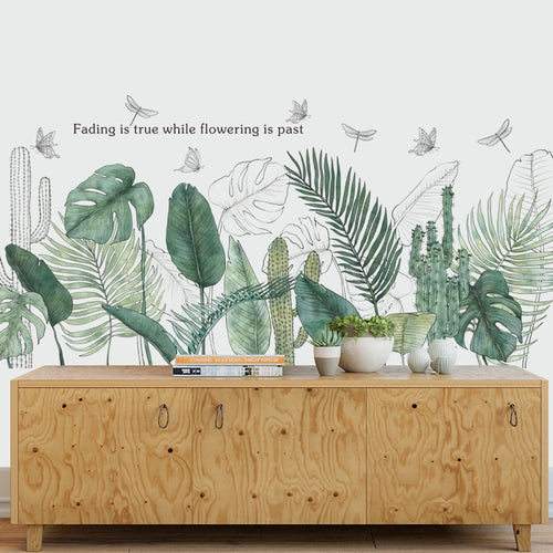 Tropical plants botanic wall sticker