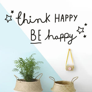Think Happy Be Happy Wall sticker