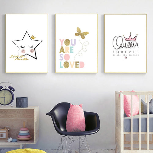 Butterfly star queen canvas print