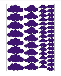 Clouds Wall Stickers 48pcs