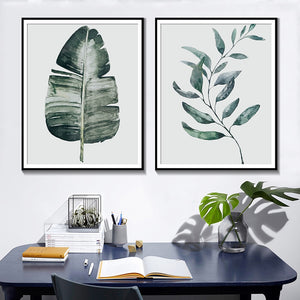 Botanical Banana Leaf Canvas Painting