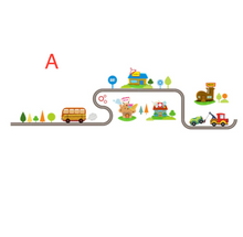 Load image into Gallery viewer, Highway track cartoon car bus wall sticker