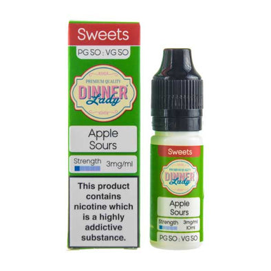 Apple Sours 50/50 E-Liquid by Dinner Lady