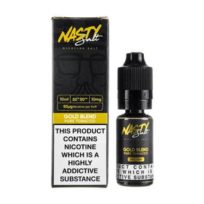 Gold Blend Nic Salt E-Liquid by Nasty Juice