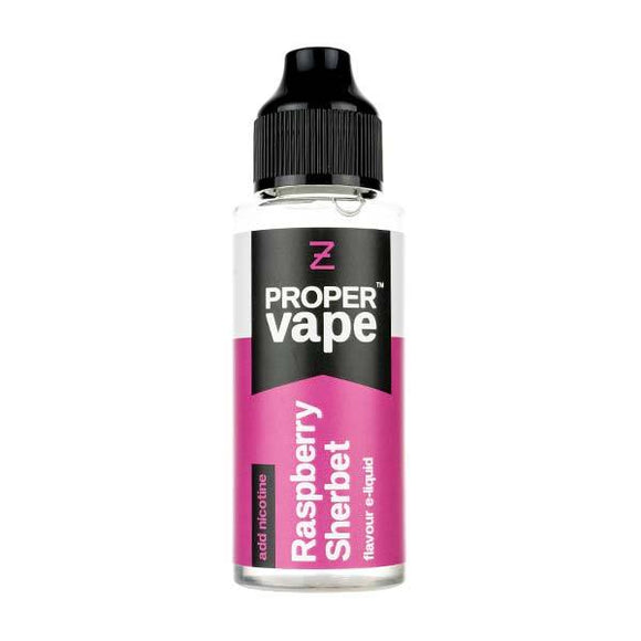 Raspberry Sherbet 100ml Shortfill E-Liquid by Proper Vapes