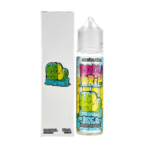 Sour Apple Iced Shortfill E-Liquid by Lollidrip