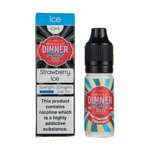 Strawberry Ice 10ml Nic Salt E-Liquid by Dinner Lady