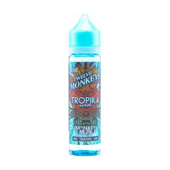 Tropika Iced Shortfill E-Liquid by Twelve Monkeys