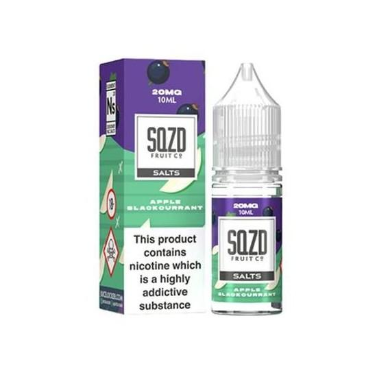 Apple Blackcurrant Nic Salt E-Liquid by SQZD Fruit Co