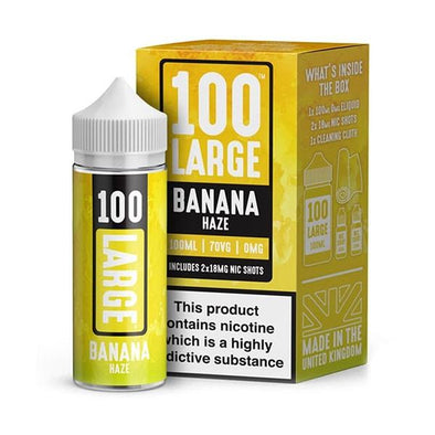 Banana Haze 100ml Short Fill by 100 Large