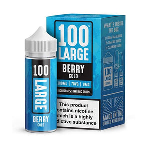 Berry Cold 100ml Short Fill E-Liquid by 100 Large
