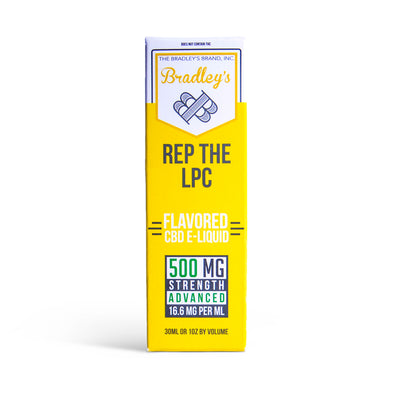 Rep the LPC CBD E-Liquid by Bradley's CBD