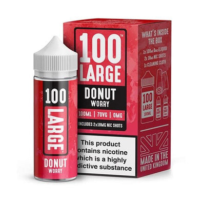 Donut Worry 100ml Short Fill E-Liquid by 100 Large