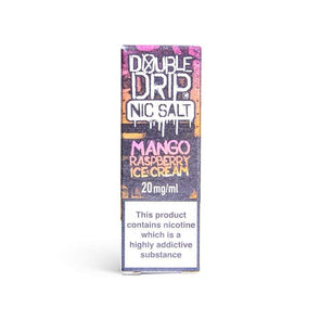 Mango Raspberry Ice Cream Nic Salt E-Liquid by Double Drip