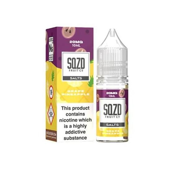 Grape Pineapple Nic Salt E-Liquid by SQZD Fruit Co