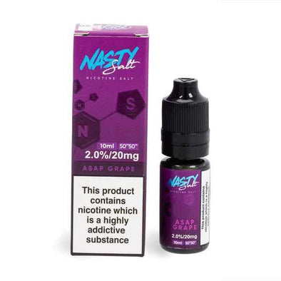Nasty Salt ASAP Grape 10ml E-Liquid Nic Salt
