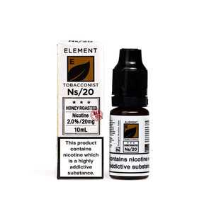 NS20 Element Tobacconist Honey Roasted Tobacco E-Liquid
