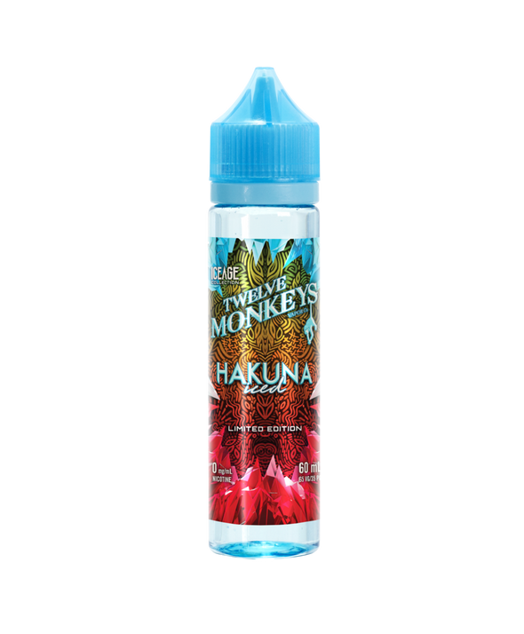 Hakuna Iced 50ml Shortfill E-Liquid by Twelve Monkeys Ice Age