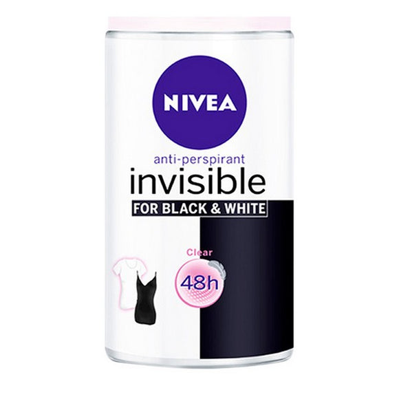 Roll on deodorant Black & White Invisible Nivea (50 ml)
