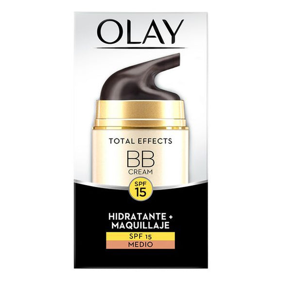 Fugtighedscreme med Farve Total Effects Bb Cream Olay Spf 15 (50 ml)