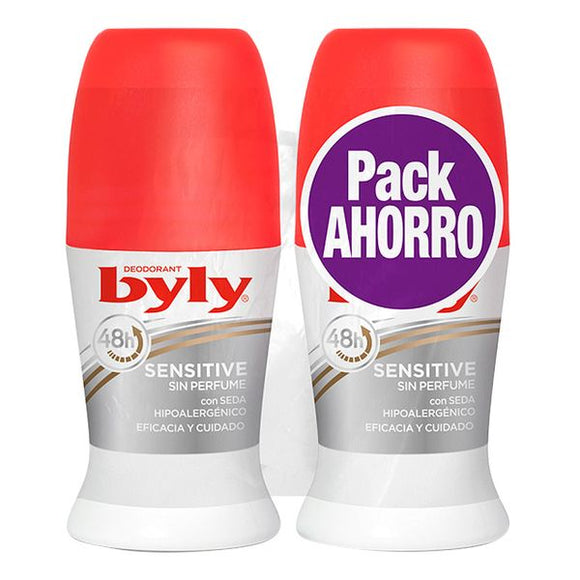 Roll on deodorant Sensitive Byly (2 uds)