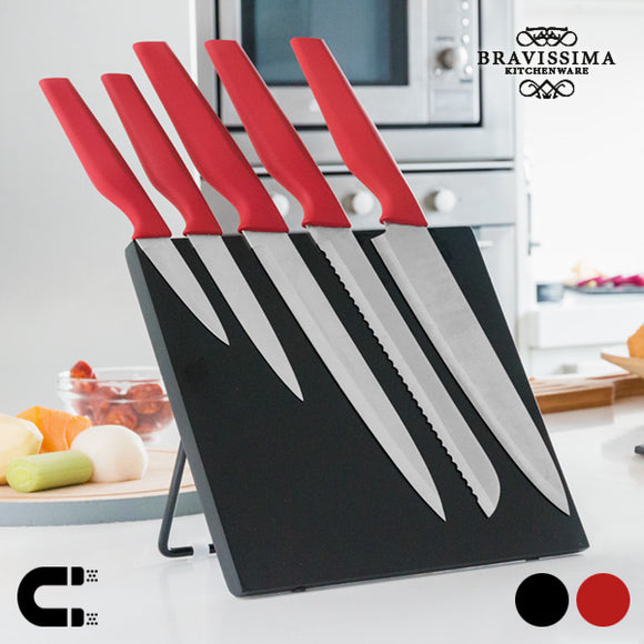Bravissima Kitchen Knive Med Magnetisk Holder (6 dele)