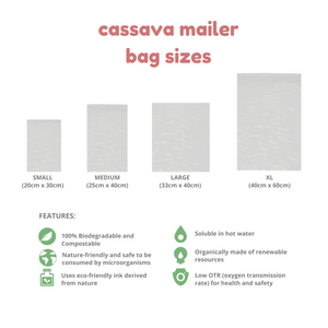 CUSTOM CASSAVA MAILER BAG