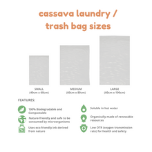 Load image into Gallery viewer, CUSTOM CASSAVA LAUNDRY/TRASH BAG