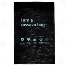 "Load image into Gallery viewer, Cassabag Mailer XL with ""I am a cassava bag"" Print (No Adhesive)"