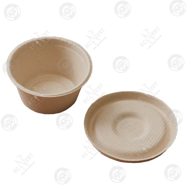 Sugarcane Sauce Cup Mini with Lid (55 ml)