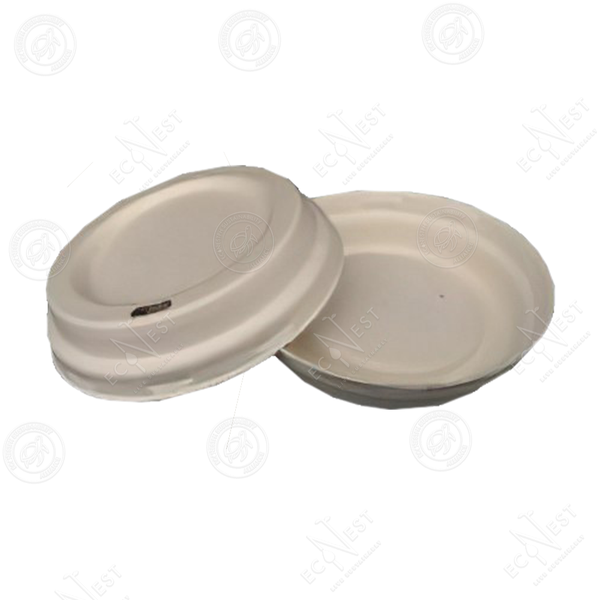 Sugarcane Bagasse Cup with Lid