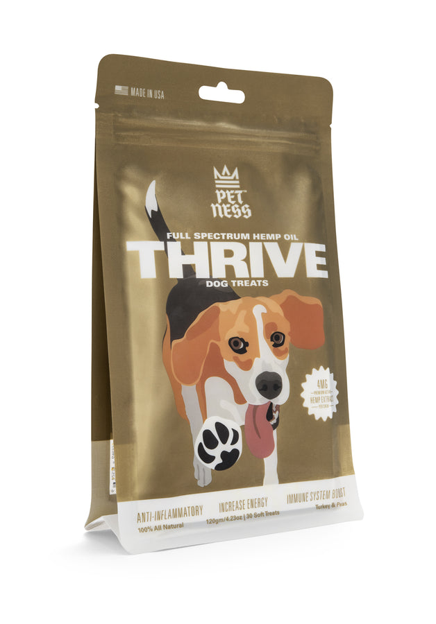 PETNESS CBD PET TREATS BROAD SPECTRUM HEMP OIL THRIVE
