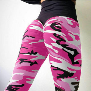 Camo Print High Waist Leggings
