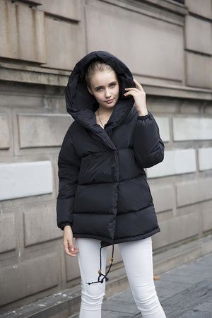 FTLZZ Winter Loose Fit 90% Duck Down Coat