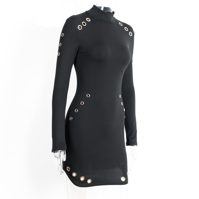 Ladies Long Sleeve Elegant Dress