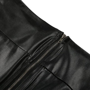 Faux Leather Stretchy Push Up Pants