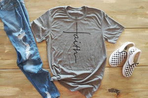 Faith tshirt cross Jesus tees Christian shirt