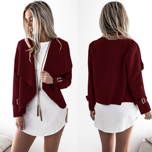 Winter Fashion Women Open Stitch Jacket