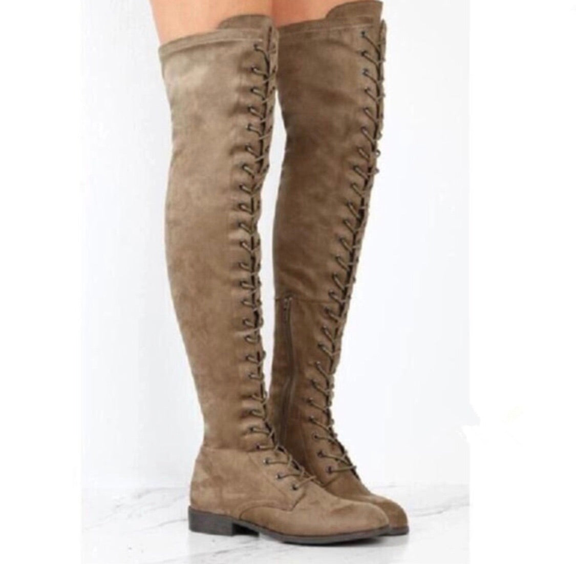 0f3c9c3f115 Thigh High Lace Up Boots – The Babe Force