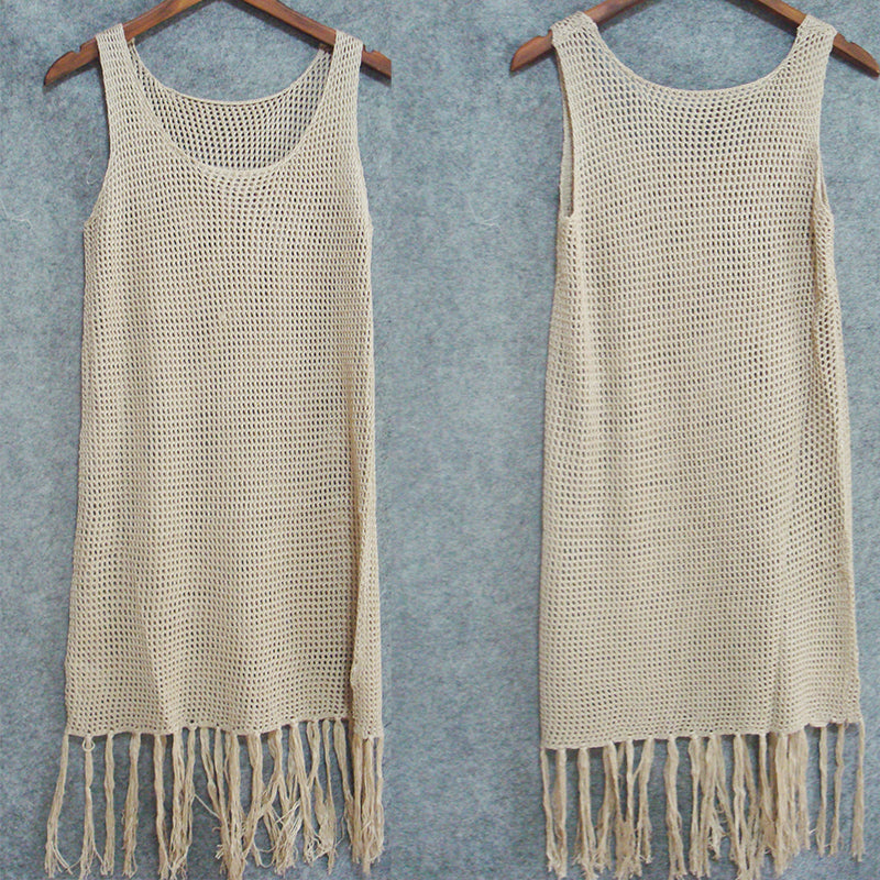 Knitted Beach Dress Cover Up