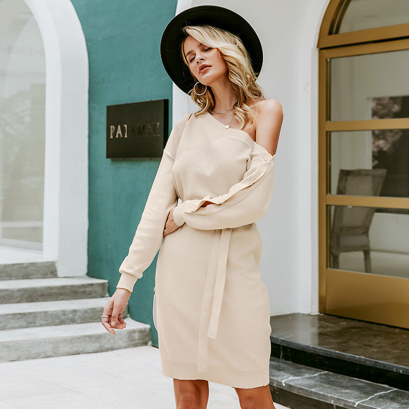 Casual Knitted Pullover Dress