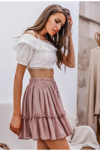 Polka Dot High Waist Skirt