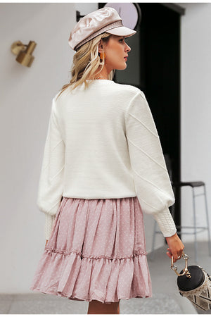 Elegant Pompom Sweater